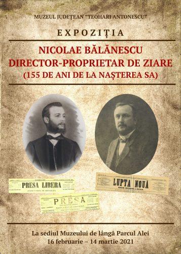 Nicolae Bălănescu, director-proprietar de ziare